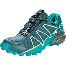Salomon Speedcross 4 GTX Running Shoes Women grey/teal